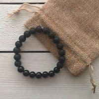 Black Onyx Essential Oil Diffuser Bracelet | Cloudsonline